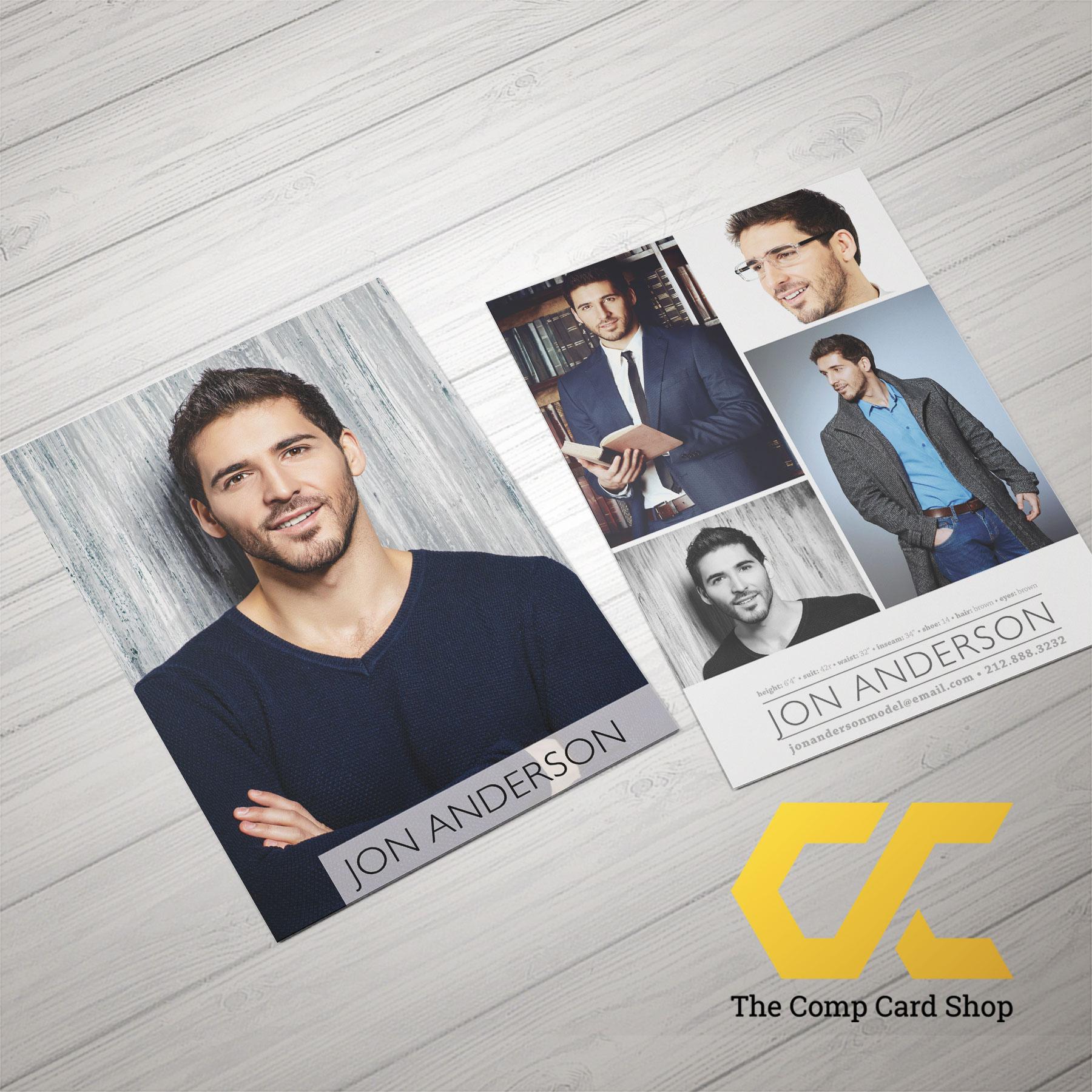 Pro Comp Card Mockup